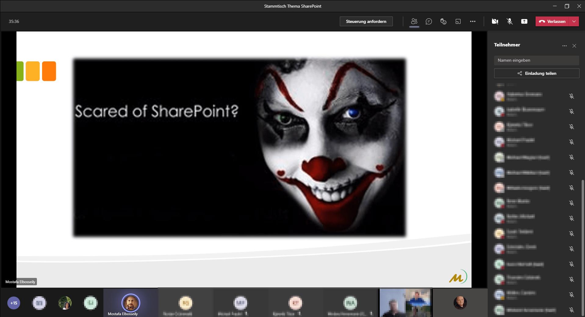 Stammtisch SharePoint Screenshot 2
