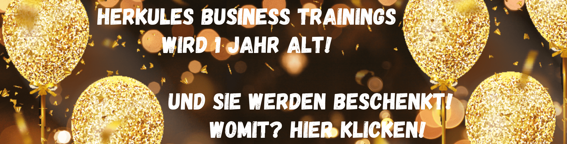 1 Jahr Herkules Business Trainings Informationsbanner